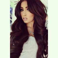 I want this hair color! Cherry brown hair color .