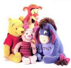 Disney Winnie the Pooh and friends Amigurumi.  Especially love Tigger and Pooh