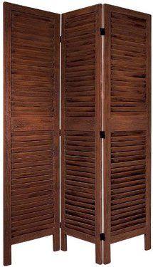 Oriental Furniture Best Bargain Discount Priced Low Cost Room Divider, 5.5-Feet Classic Venetian Blind Design Floor Screen Partition, 3 Pane...