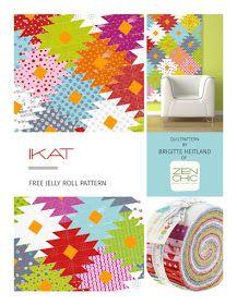 Jelly Roll Pattern IKAT by Zen Chic