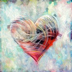 Bilderesultat for heart art Heart Pictures, Heart Images, Heart In Nature, Heart Art, Valentines Day Drawing, Heart Painting, Love Wallpaper, Watercolor Art, Cool Art
