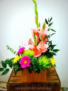 Feel better bouquets are doctor approved.* *Well, we're not doctors but we think doctors would agree! www.colonialflowers.org  #flowers #bouquet #arrangement #daisies #pink #summer #green #bridal #sympathy