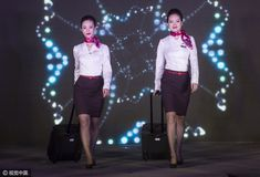 【China】 Shanghai Airlines cabin crew / 上海航空 客室乗務員 【中国】 Skirts, Fashion, Moda, Fashion Styles, Skirt, Fashion Illustrations, Gowns, Skirt Outfits