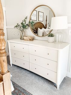 Room Ideas Bedroom, Small Room Bedroom, Home Decor Bedroom, Couple Bedroom, Small Rooms, Bedroom Dresser Decorating, Mirror In Bedroom, Bedroom Dresser Styling, Dresser In Living Room