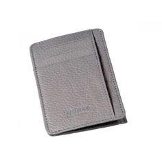 Grey Magnetic Card Wallet
