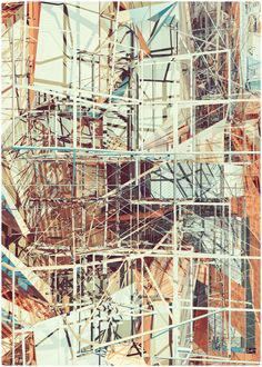 I'm stunned by the sheer beauty of these scaffolding illustrations by Peter Olschinsky and Verena Weiss who make up Atelier Olschi. Architecture Graphics, Architecture Drawings, A Level Art Sketchbook, City And Colour, Derelict Buildings, Architectural Features, Architectural Presentation, Scaffolding, Built Environment