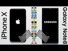 من الأسرع – جالكسي نوت 8 أو iPhone X ؟