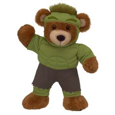 Don't get mad, get Hulk Bearemy! Avengers costumes at Build-A-Bear $27.00