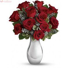 Clasic - Buchet din trandafiri rosii