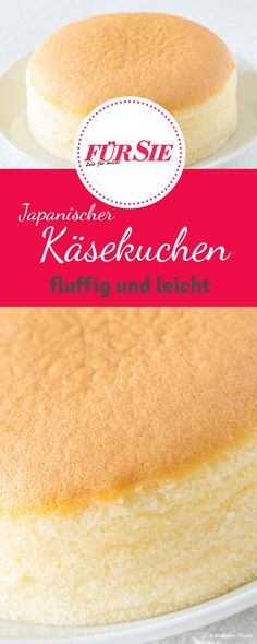 Japanese Cheesecake Recipe – This Japanese cheesecake melts on the tongue, much like cotton candy. It only consists of – # for Japanese Cheesecake Recipe – This Japanese cheesecake melts on the tongue, much like cotton candy. Japanese Cheesecake Recipes, Cake & Co, Food Cakes, Cakes And More, No Bake Desserts, No Bake Cake, Sweet Recipes, Baking Recipes, Muffins