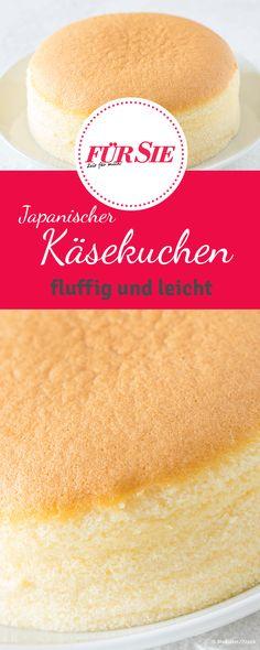 Dieser japanische Käsekuchen zergeht geradezu auf der Zunge, ähnlich wie Zuckerwatte. Er besteht aus nur drei Zutaten - und wir haben das Rezept für Euch.