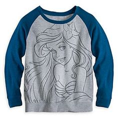 Disney Ariel Long Sleeve Raglan Tee for Women | Disney StoreAriel Long Sleeve Raglan Tee for Women - You'll feel a wave of approval in Ariel's soft, vintage-style baseball tee featuring long contrast raglan sleeves, heathered fabric, and scoop neck.