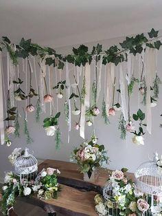 Flower garland flower wall hanging wedding decor wedding