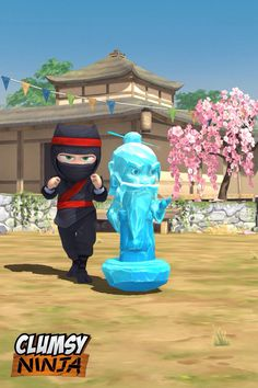 My clumsy ninja sculpture an ice sifu.