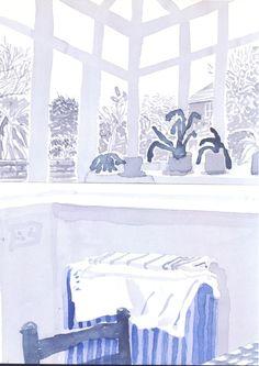 David Hockney | Margaret's Conservatory | 2004