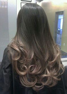 Pearl ombre on dark hair