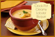 Crock Pot Creamy Lobster Bisque via Mommifried