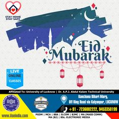 On the holy occasion of EID, IISE wishes that, may the blessing of God light up your way and lead you to eternal  happiness, success and peace. Eid Mubarak to all. IISE GROUP OF INSTITUTIONS Call Us: +91 7236002222, 9453350199 #thanksCovidwarriors #ADMISSIONOPEN #PGDM #MCA #BBA #BCA #BJMC #BCOM #MAMC #MABJ #BAMC #BSCMC #LucknowUniversity