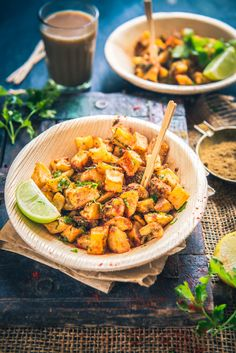 Farali Aloo Chaat is assembled by frying potato dices till they turn crisp and they are tossed with toothsome spices. Serve it hot.