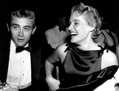James Dean serious and Ursula Andress laughing 8x10 rare photo
