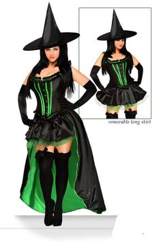 Wickedly GORGEOUS Five Piece Premium Sexy Wicked Witch Costume. SALE, Get yours now while they last! #atomicjaneclothing
