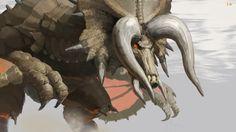 Kai Fine Art is an art website, shows painting and illustration works all over the world. Monster Hunter Online, Monster Hunter 3 Ultimate, Monster Hunter World, Monster Hunter Frontier, Monster Hunter Series, Fantasy Monster, Best Games, Concept Art, Illustration Art