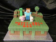 for my little minecraft player! minecraft birthday cake - Google Search
