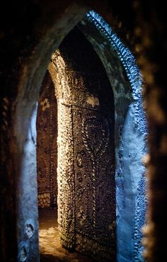 shell grotto, UK. An ancient underground passage covered in shells. credit: ed walker.
