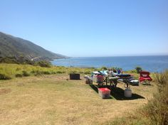 Breakfast at Campsite 9 - Kirk Creek - Big Sur California - Not bad for $22 a night!