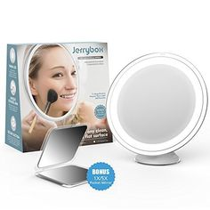 £0.00 (100% Off) on LootHoot.com - Jerrybox Makeup Mirror 7X Magnifying Lighted…