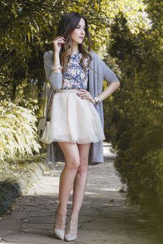 FashionCoolture - look du jour Pandora bracelets romantic outfit… Mode Outfits, Girly Outfits, Night Outfits, Skirt Outfits, Spring Outfits, Casual Outfits, Fashion Outfits, Fashion Moda, Womens Fashion
