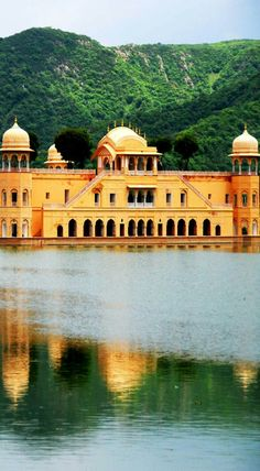 The Amazing Water Palace in Jaipur, Rajasthan, India
