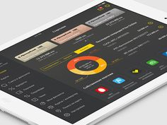 Banking App(iPad App) by Sergey Karpuk, via Behance App Ui, Ipad App, Dashboard Design, App Design, Portal Design, Tablet Ui, Hidden Pictures, Ui Design Inspiration, User Interface Design