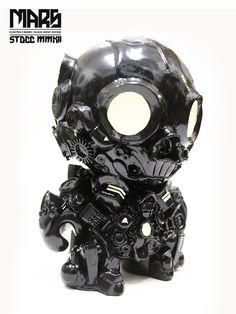 MARS (Black Ghost vinyl toy custom) by Clog Two, via Behance