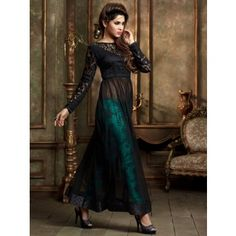 Offering wide range of Salwar Kameez Online Shopping with finest quality fabrics and stitching. Shop from our latest collection of online salwar suits, Buy Ethnic suit Online, The best online salwar kameez shopping store in India with safe shopping e Costumes Anarkali, Anarkali Dress, Anarkali Suits, Punjabi Suits, Black Anarkali, Long Anarkali, Designer Salwar Suits, Designer Anarkali, Designer Kurtis