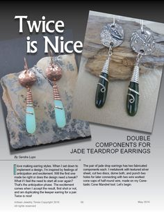 Double Components Wire tutorial by Sandra Lupo May 2016 AJT issue