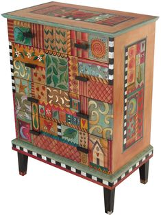 Sticks Dresser Artistic Artisan Designer Dressers – Sweetheart Gallery: Contemporary Craft Gallery, Fine American Craft, Art, Design, Handmade Home & Personal Accessories Funky Painted Furniture, Painted Chairs, Repurposed Furniture, Wooden Chairs, Painted Tables, Sticks Furniture, Art Furniture, Furniture Makeover, Timber Furniture