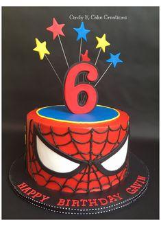 Spiderman Birthday Cake, Superhero Cake, Superhero Birthday Party, 6th Birthday Parties, Boy Birthday, Birthday Ideas, Spider Man Birthday, Spider Man Party, Spider Man Cakes