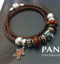 Brown wood Pandora charms. Spot the camel :)