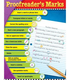 Proofreader's Marks Chart - Carson Dellosa Publishing Education Supplies #CDWISHLIST