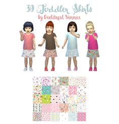 Hello my fellow simblrs! Today I have for you 30 patterned toddler skirts. These are BGC, so there's no separate download that you need. Enjoy! DOWNLOAD