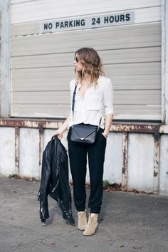 city casual chic travel outfit seattle, online shopping, women's fashion, blog, street style, fashion tips, blonde ombre hair