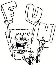 Printable SpongeBob Fun Coloring Pages