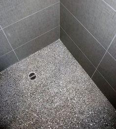 Top 60 Best Bathroom Floor Design Ideas - Luxury Tile Flooring Inspiration Pebble Tile Shower Floor, Mosaic Shower Tile, Mosaic Bathroom, Bathroom Tile Designs, Bathroom Floor Tiles, Pebble Tiles, Bathroom Ideas, Mosaic Tiles, Shower Designs