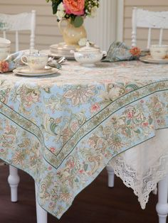 Fabric fit for a queen—of décor!— the Jacob's Court pattern embodies timeless French aesthetics of color and scale. Antique atelier volumes of design I found on a journey to Paris inspired this collection. Combine with tea towels and napkins, placemats, or an old-fashioned apron for the kitchen.