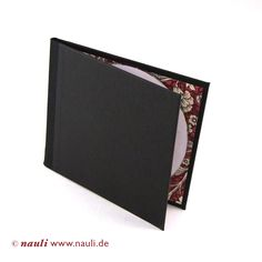 Nauli - CD/DVD case black red Renaissance flowers #photographer packaging #boudoir