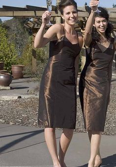 Sheath V-Neck Knee-length Silk Taffeta Bridesmaid Dress Style Design Your Own