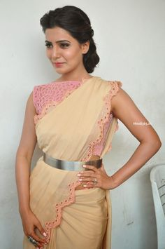Samantha Ruth Prabhu in Saree At Manam Telugu Movie Press Meet (18)