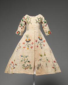 Mid-18th Century dress, America Linen, wool Metropolitan Museum of Art