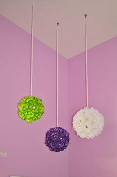 Pom Ball decorating ideas for little girls room